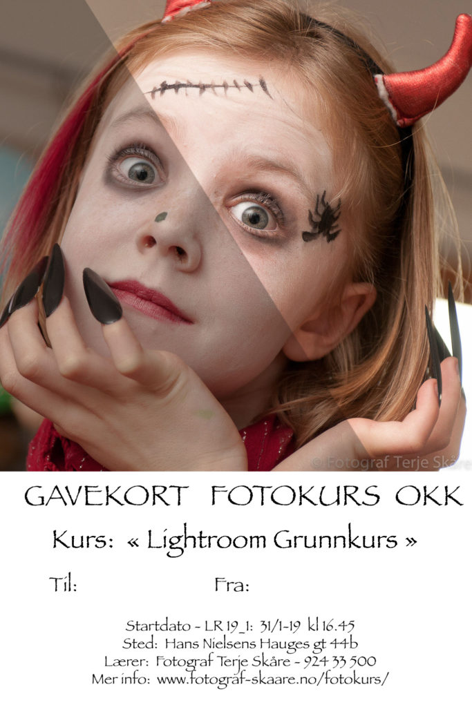 Gavekort Lightroom Grunnkurs