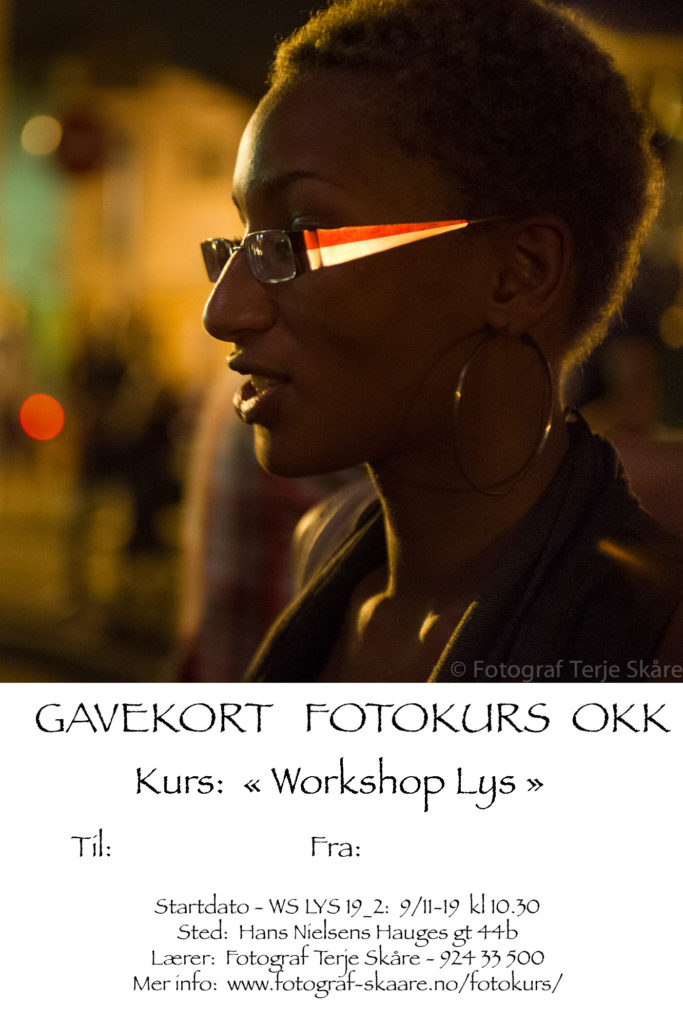Gavekort Workshop Lys